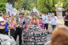 Melbourne, Australien - 14. März 2016: Die jährliche Moomba-Parade auf Straße St. Kilda lizenzfreie stockbilder