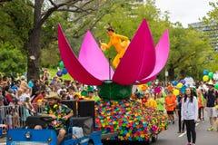 Melbourne, Australien - 14. März 2016: Die jährliche Moomba-Parade auf Straße St. Kilda stockfoto