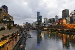 MELBOURNE AUSTRALIEN - 1 September 2018: Sikten från Southban arkivbilder
