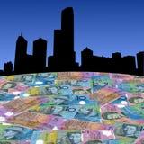 Melbourne avec les dollars australiens illustration stock