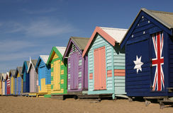 Melbourne - Bathing Boxes Stock Photography