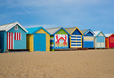 Melbourne beach cabins Royalty Free Stock Photos