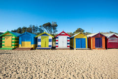 Melbourne Beach Cabins Royalty Free Stock Photography