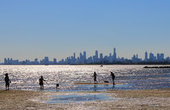 Melbourne beach cityscape Australia Stock Photo