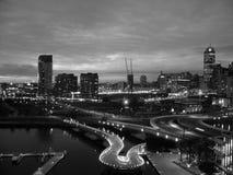 Melbourne bij Nacht Royalty-vrije Stock Foto