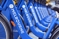 Melbourne Bike Share Royalty Free Stock Photography