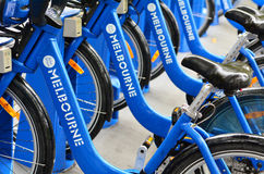 Melbourne Bike Share Stock Image