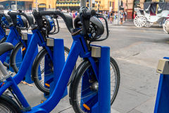 Melbourne bike share station Royalty Free Stock Photos