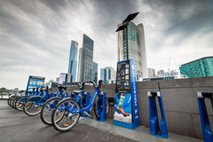 Melbourne bike share station Stock Photo