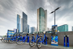 Melbourne bike share station Royalty Free Stock Images