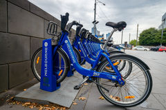Melbourne bike share station Stock Image