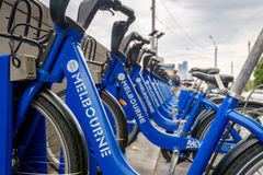Melbourne bike share station Royalty Free Stock Photo