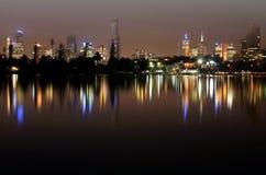 Melbourne bis zum Night Lizenzfreies Stockbild