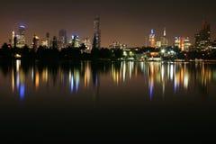 Melbourne bis zum Night Stockfotos