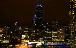 Melbourne bis zum Night Stockbild