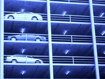 Melbourne Blue Carpark. Cars parked in a multi-level carpark in Melbourne, Australia Royalty Free Stock Images