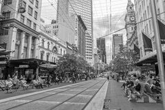 Melbourne Bourke Street Royalty Free Stock Photo