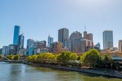 Melbourne budynki Obrazy Royalty Free