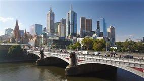Melbourne céntrica, Australia almacen de metraje de vídeo