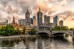 Melbourne CBD stockfotos