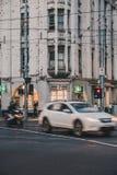 Melbourne CBD am Abend lizenzfreies stockfoto