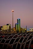 Melbourne CBD al tramonto fotografia stock