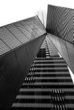 Melbourne CBD architecture in black and white Stock Image