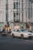 Melbourne CBD in the Evening royalty free stock photo