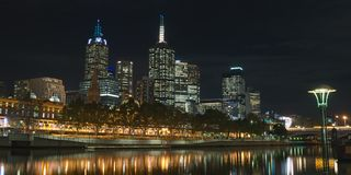 Melbourne CBD and Yarra Royalty Free Stock Photo