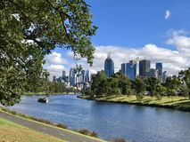 Melbourne CBD & Yarra River Stock Photo