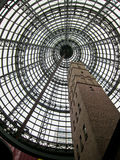 Melbourne Central. The famous architecture of this beautiful landmark in Melbourne. The cone is built over the historic The Coops (Melbourne Central) Shot Tower Royalty Free Stock Photos
