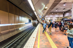 Melbourne Central underground train station in Australia Stock Images