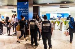 Melbourne Central underground train station in Australia Stock Image