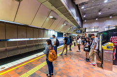 Melbourne Central underground train station in Australia Royalty Free Stock Images
