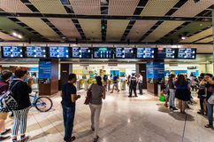 Melbourne Central underground train station in Australia stock photo