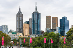 Melbourne centre pejzaż miejski Zdjęcie Royalty Free