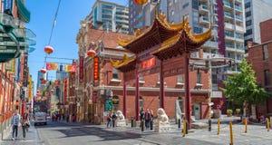 Melbourne Chinatown Fotografia Royalty Free