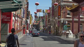 Melbourne Chinatown stock video footage