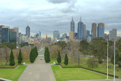 Melbourne city Stock Photography