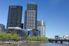 Melbourne City. The city view of South Bank, Melbourne, Australia Stock Photos