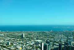 Melbourne City Aerial View Royalty Free Stock Image