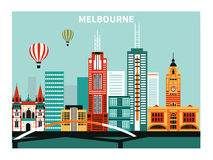 Melbourne city. Stock Photos