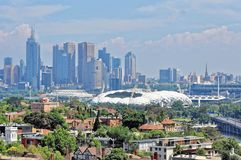 Melbourne city CBD cityscape Stock Photography