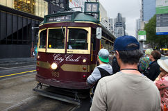 Melbourne City Circle Tram Stock Photo