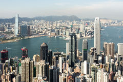 Hong Kong City. Crowd Buildings in the city of Hong Kong Stock Photography