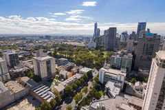 Melbourne city with Flagstaff Gardens view in Melbourne, Austral Stock Images