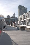 Melbourne city from jetty Royalty Free Stock Photography
