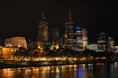 Melbourne city at night (II) Stock Photos