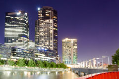 Melbourne city by night - Victoria - Australia Stock Image