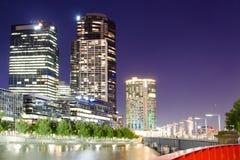 Melbourne city by night - Victoria - Australia Stock Image